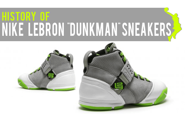 """more photos 3acef 71126 History of Nike LeBron """"Dunkman"""" Sneakers"""