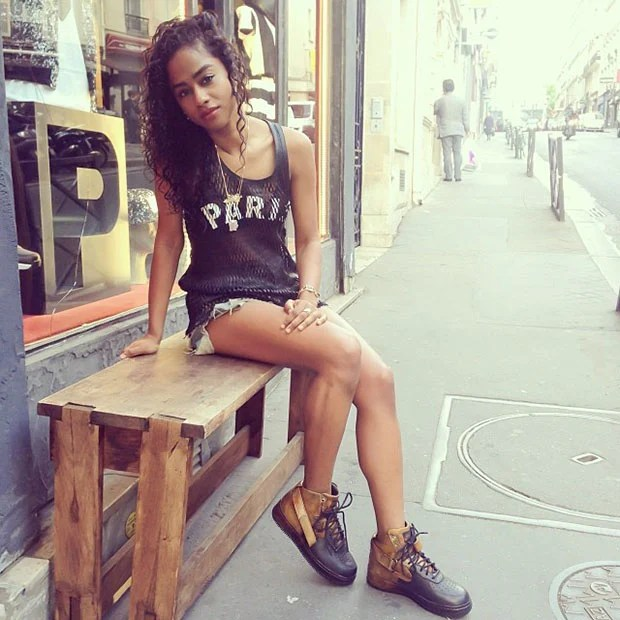 Vashtie in the Pigalle x Nike Air Force 1 High