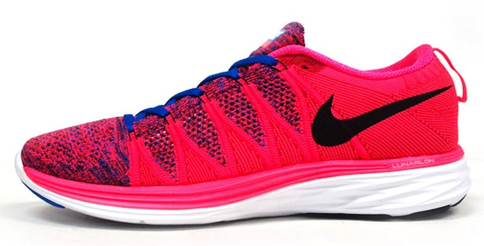official photos eac22 b1afd Nike Flyknit Lunar2 Pink Blue