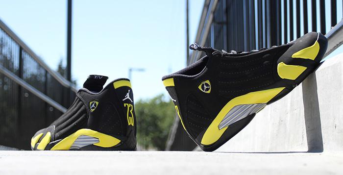 timeless design 2bd1c aa2b4 Air Jordan 14 Thunder Another Look