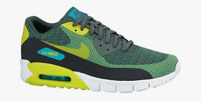 competitive price 100% quality detailed pictures nike air max 90 jacquard mens shoes venom green