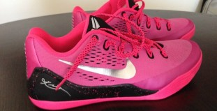 "online retailer 30616 c618a ... Think Pink Nike Kobe 9 EM ""Kay Yow"" Another Look ..."