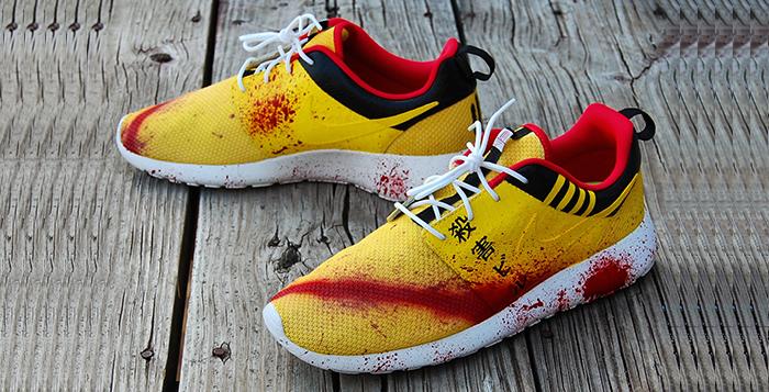 "purchase cheap 9c2c8 30c46 Nike Roshe Run ""Kill Bill"" Custom"