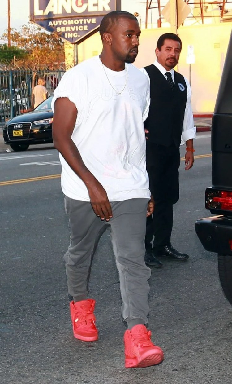 "Kanye West in the Nike Air Yeezy 2 ""Red October"""