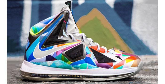 """timeless design e95ec b9705 Nike LeBron X """"Shattered Prism"""" Custom"""