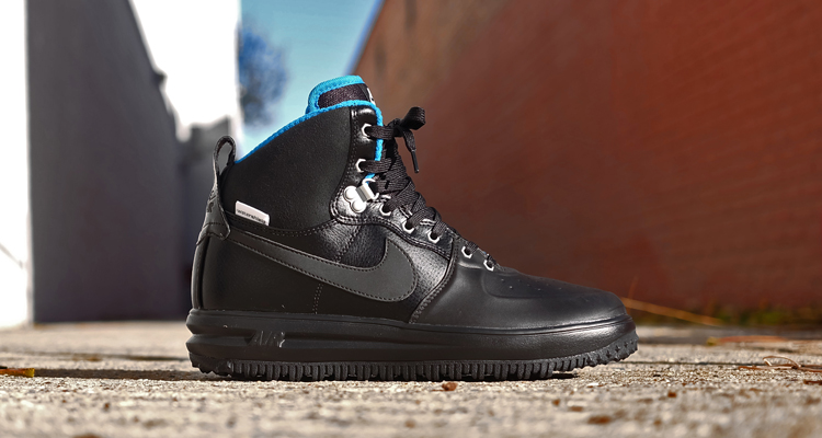 new products ddef2 29823 Nike Lunar Force 1 High Sneakerboot Black Metallic Silver