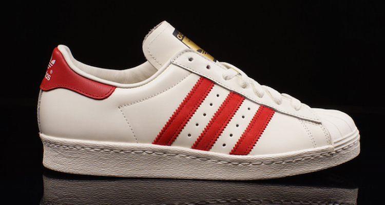 quality design 41844 9dc7d adidas Superstar 80s Deluxe White Red