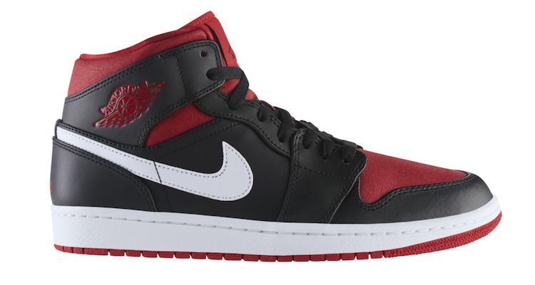 5145b4b2309 Air Jordan 1 Mid Black/Red-White   Nice Kicks