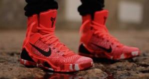 "separation shoes d6b00 40cf9 Nike Kobe 9 Elite ""Christmas"" On-Foot Preview. Dec 22, 2014. Share. Nike  Kobe 9 Knit Stocking"
