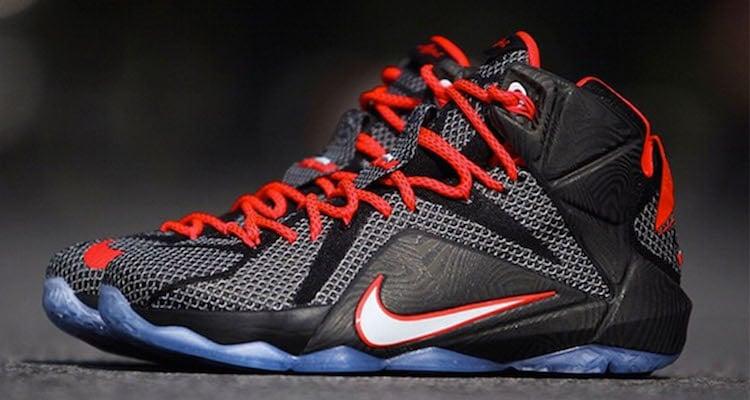 1272f6c7da77a Nike LeBron 12 Black Red Preview