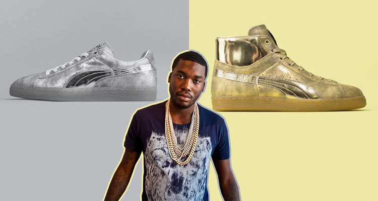 puma suede gold meek mill