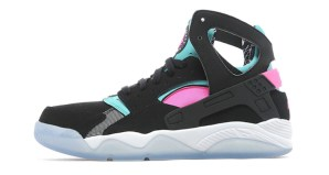Nike Air Flight Huarache Black/White-Pink-Teal Now Available