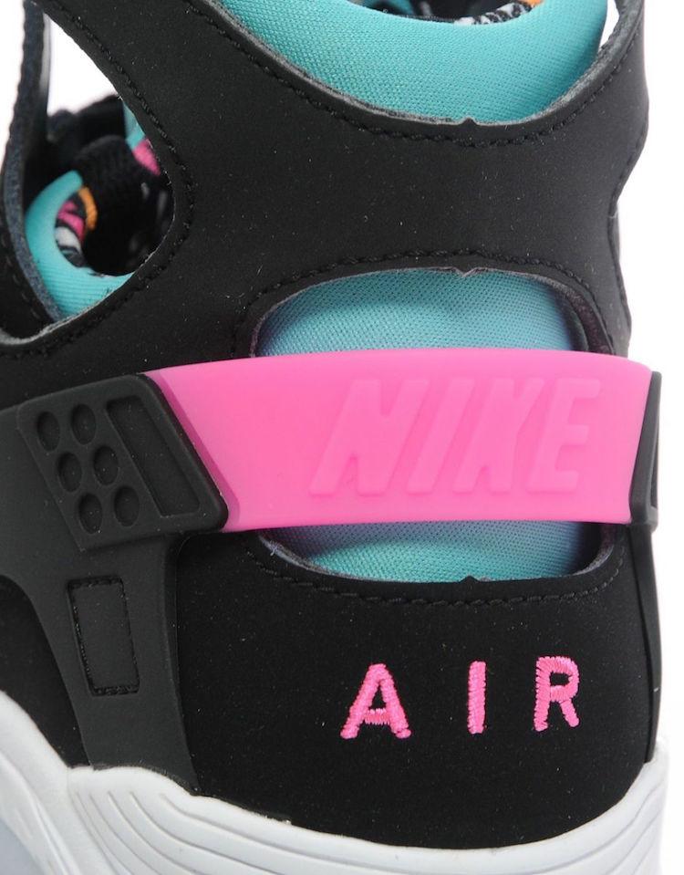 Nike Huarache Negro Rosa Verde Azulado Rek7Qtau