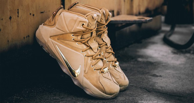 Check out a Detailed Look at the Nike LeBron 12 EXT Wheat
