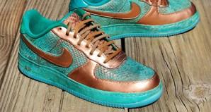 Nike Air Force 1 Copper Dragon Custom by GourmetKickz