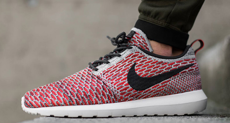 cheap for discount 8e9f1 a2782 Nike Flyknit Roshe Run Bright CrimsonPlatinum Available Now