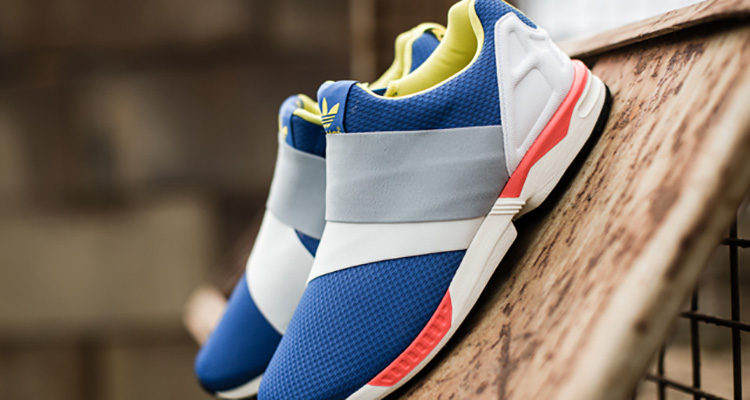 adidas ZX Flux Slip On YellowOrange Blue Available Now