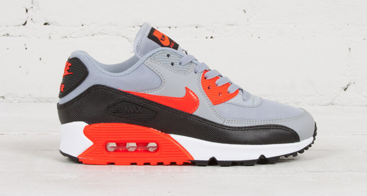 finest selection 94dd4 5438a Nike WMNS Air Max 90 Essential Wolf Grey Infrared Available Now
