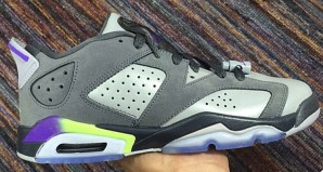 Air Jordan 6 Low Grey/Purple–Neon