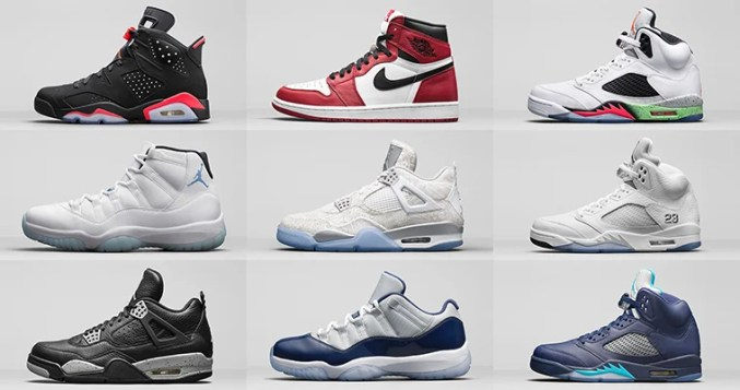 Retro Air Jordans available at Shoe Palace Melrose grand opening