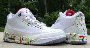 "Air Jordan 3 ""Splatter"" Custom by Sole On The Bluff"