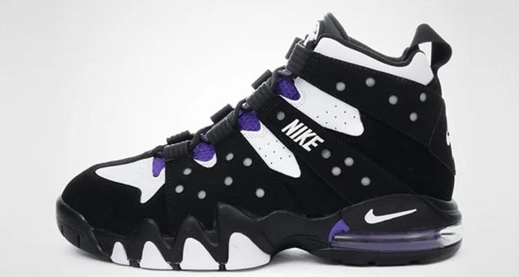 nike force purple and orange charles barkley shoes