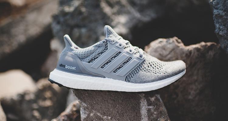 adidas - grau / weiß - kicks ankurbeln wolle