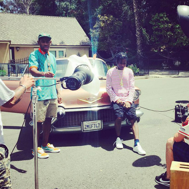 Tyler, the Creator in the Golf Wang x Vans Old Skool Pro