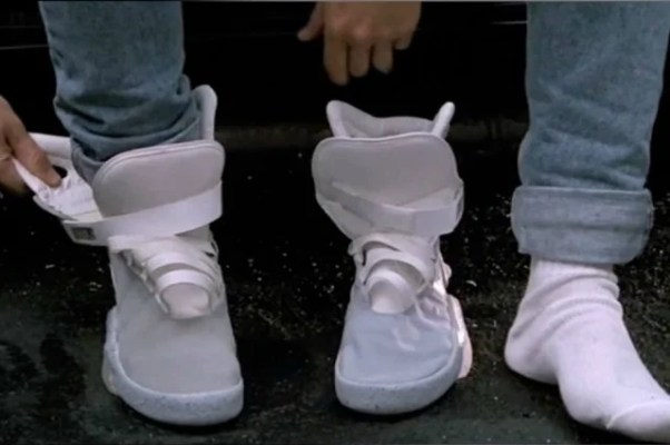 huge discount e3a2a df144 First Look  Michael J Fox shows Power Lacing Nike MAGs in-action