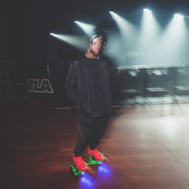 Joey Badass in the Adidas x Raf Simons Ozweego Sneakers