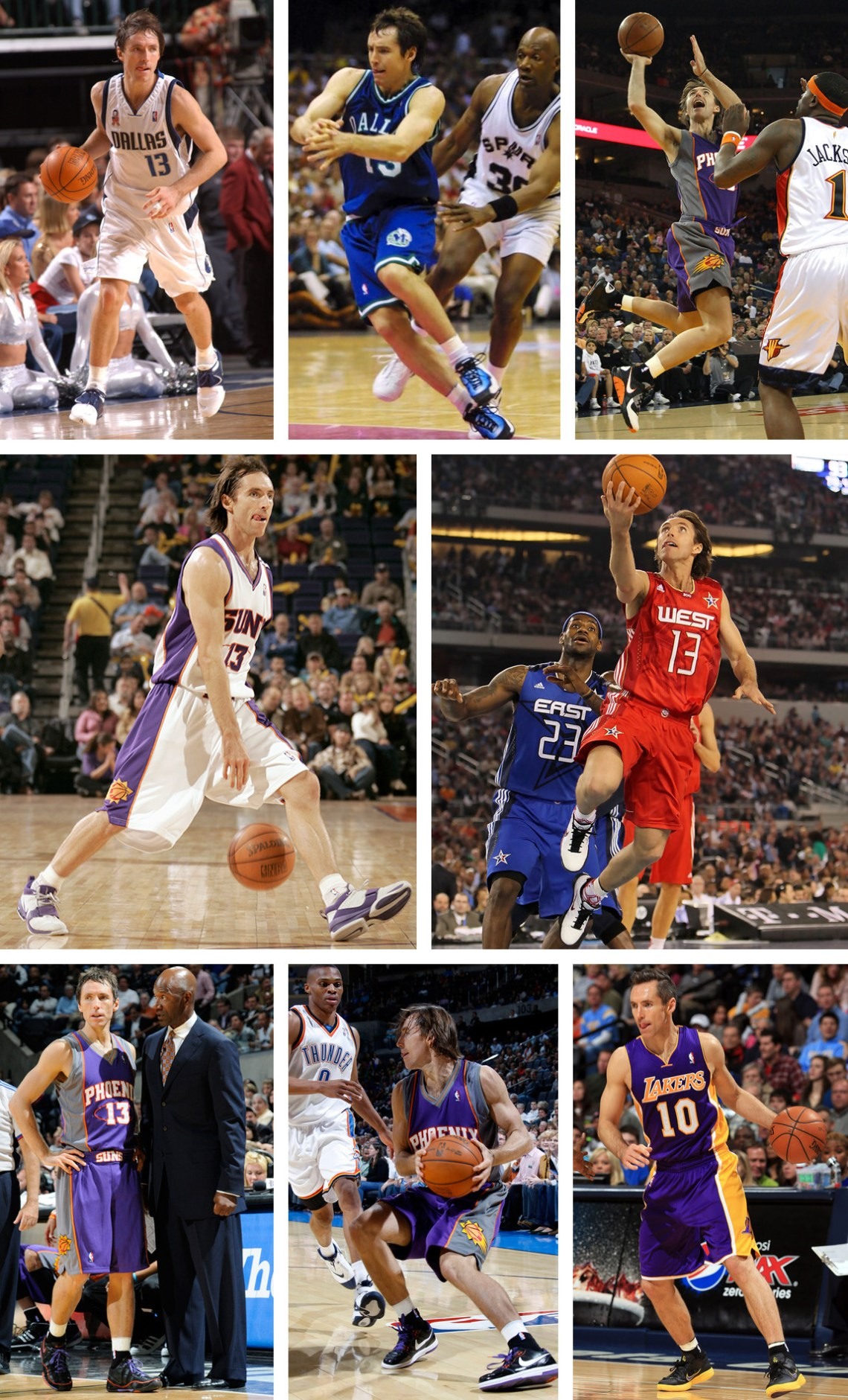 Steve Nash Kicks on Court