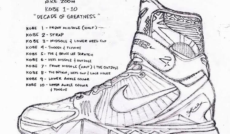 477bbe9eedc Sneaker Sketch // Vincenzo Monteroso Renders the Ultimate Nike Kobe ...