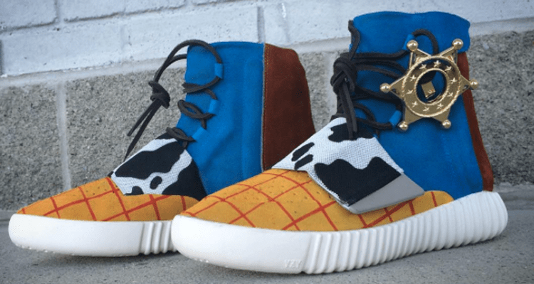 b839e0e4554 ... Blue adidas Yeezy Boost 750 Toy Story Inspires Latest Yeezy Boost 750  Custom from Mache ...