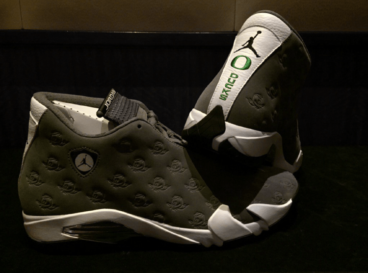 Air Jordan 14 Oregon Ducks PE by Tinker Hatfield