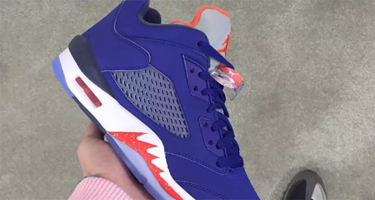 """the latest 8100a fc8e4 Another Look at the Air Jordan 5 Low """"Knicks"""""""