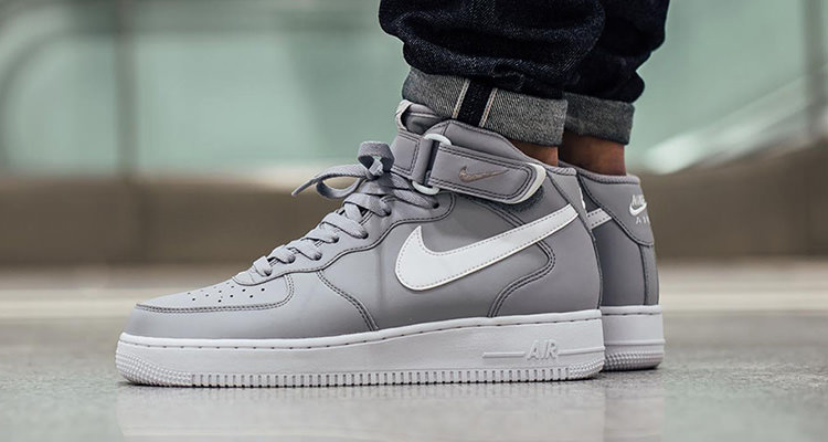 ... 9d0e8 23048 Nike Air Force 1 Mid Wolf GreyWhite new images of 687862989