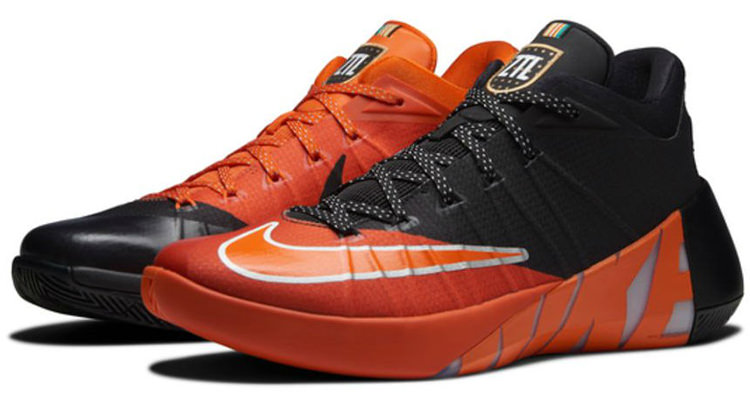 the latest 1b78e ea4b9 nike hyperdunk 2015 low black orange zach lavine donned this nike hyperdunk  2015 low in his dunk contest win nice kicks