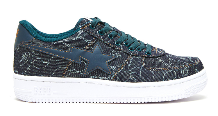 "Available Now // A Bathing Ape Bape Sta ""ABC Denim"""