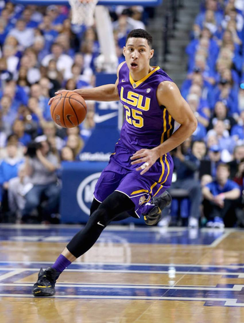 LSU's Ben Simmons in a iD model of the Nike LeBron 13