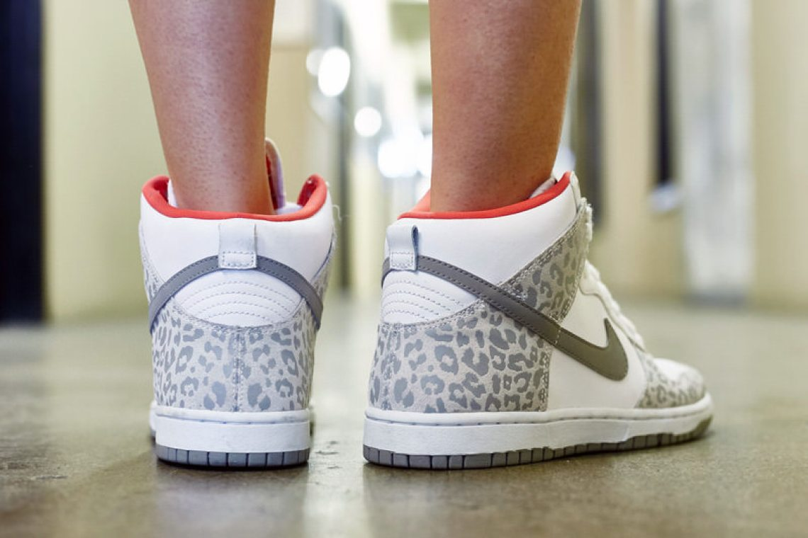 "Nike Dunk High Skinny ""Leopard"" On-Foot Look"