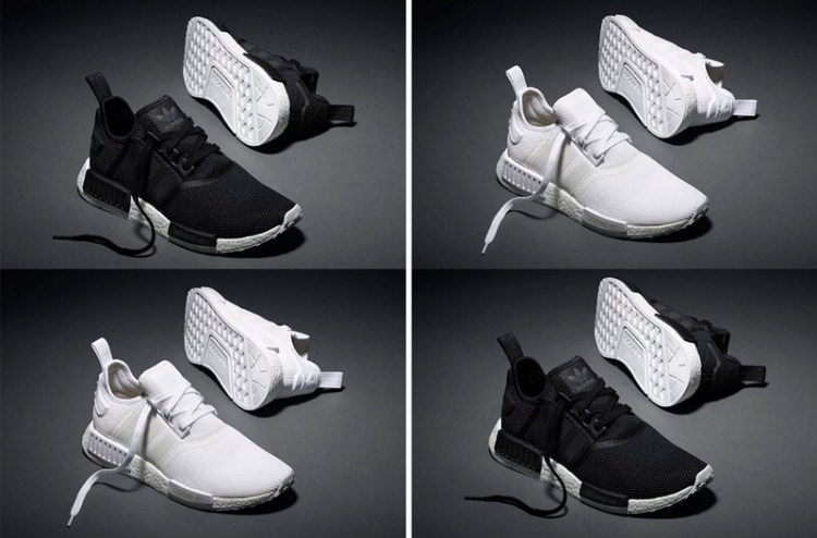 3ee2577ca652cd Adidas NMD All White   Black White