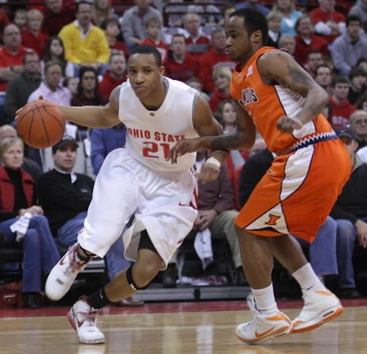 "Evan Turner in the Nike Zoom LeBron 6 ""Ohio State"""