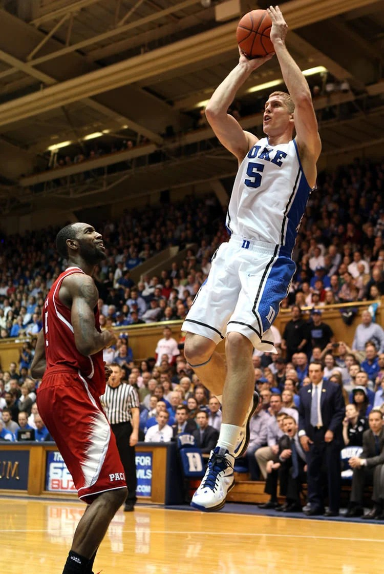 Mason Plumlee in the Nike LeBron X
