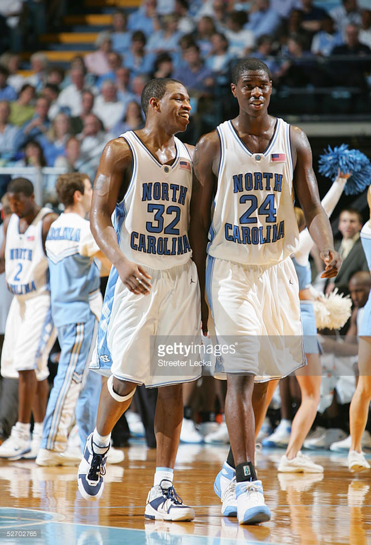 Rashad McCants in the Nike Zoom LeBron II White/Midnight Navy