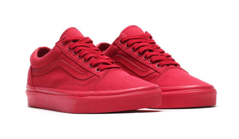 vans old skool crimson