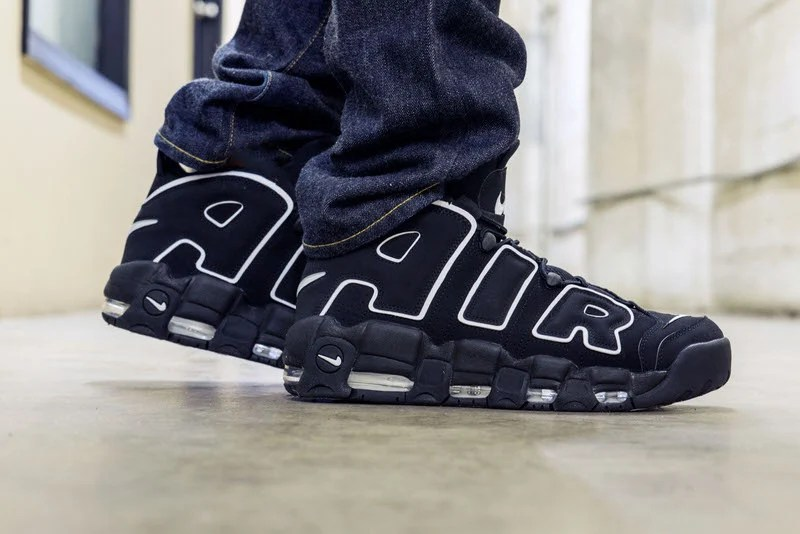 d0315a29ed7ce On-Foot Look    Nike Air More Uptempo OG Black White