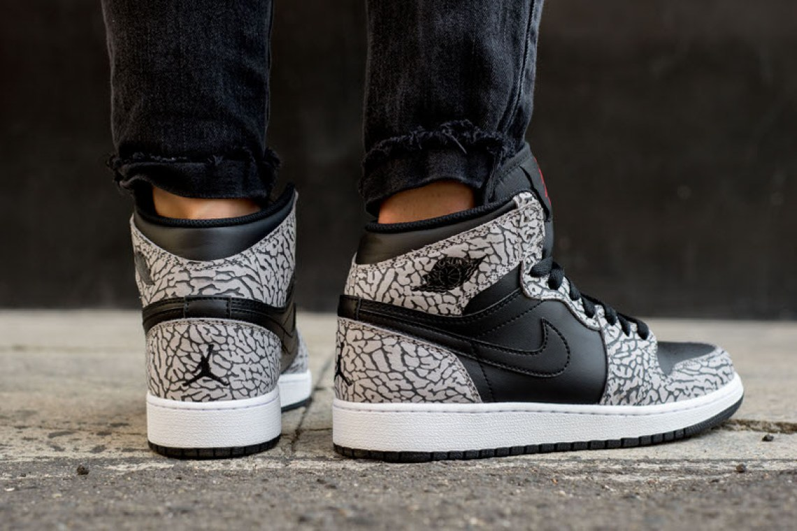 Air Jordan 1 High Black/Cement On-Foot Look