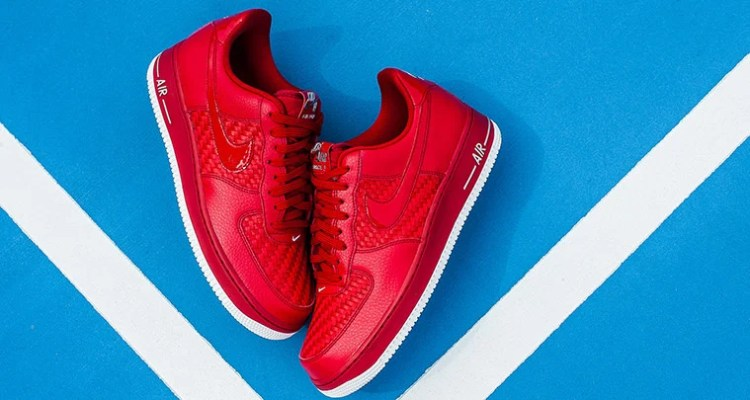 best cheap 88881 08f04 Nike Air Force 1 Low Woven Gym Red