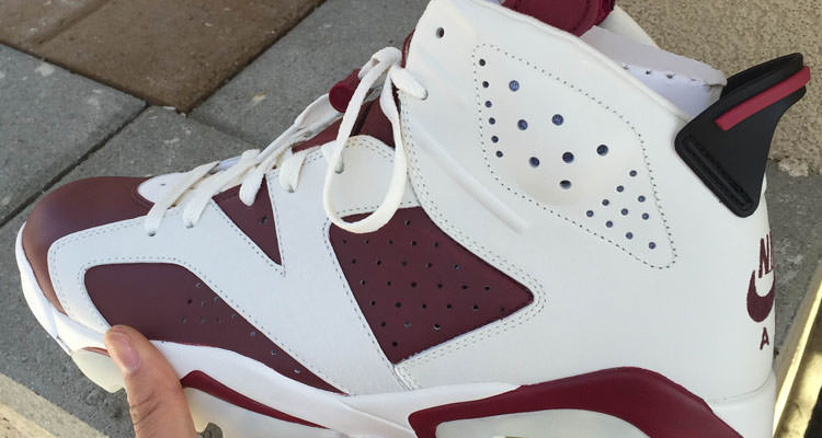 "9ad3f980e1b4 Custom Sneaker    Air Jordan 6 ""Classic Maroon"" by Malcolm Garret   Elite  Touch Ups"