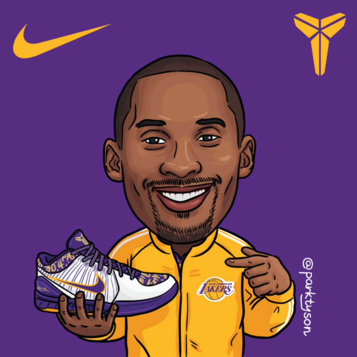A SneakerArt Tribute to Kobe Bryant by ParkTyson | Nice Kicks